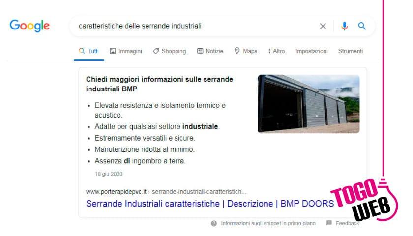 posizione zero su Google